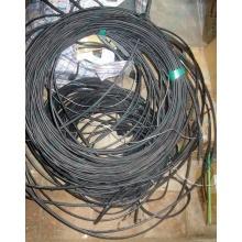 Оптический кабель Б/У для внешней прокладки (с металлическим тросом) в Абакане, оптокабель БУ (Абакан)