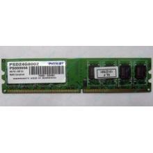Модуль оперативной памяти 4Gb DDR2 Patriot PSD24G8002 pc-6400 (800MHz)  (Абакан)